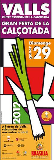 Cartel de la Fiesta de la Calçotada 2012